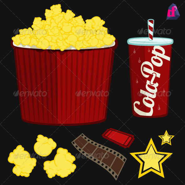 GraphicRiver Popcorn Movie Items 3832228