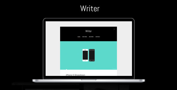 ThemeForest Writer Minimalistic Wordpress Theme 3747291