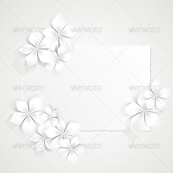 GraphicRiver Paper and White Flowers 3832624
