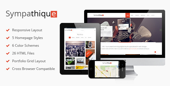 ThemeForest Sympathique Responsive HTML Template 3833014