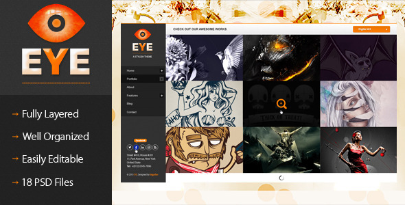 EYE Premium PSD Template