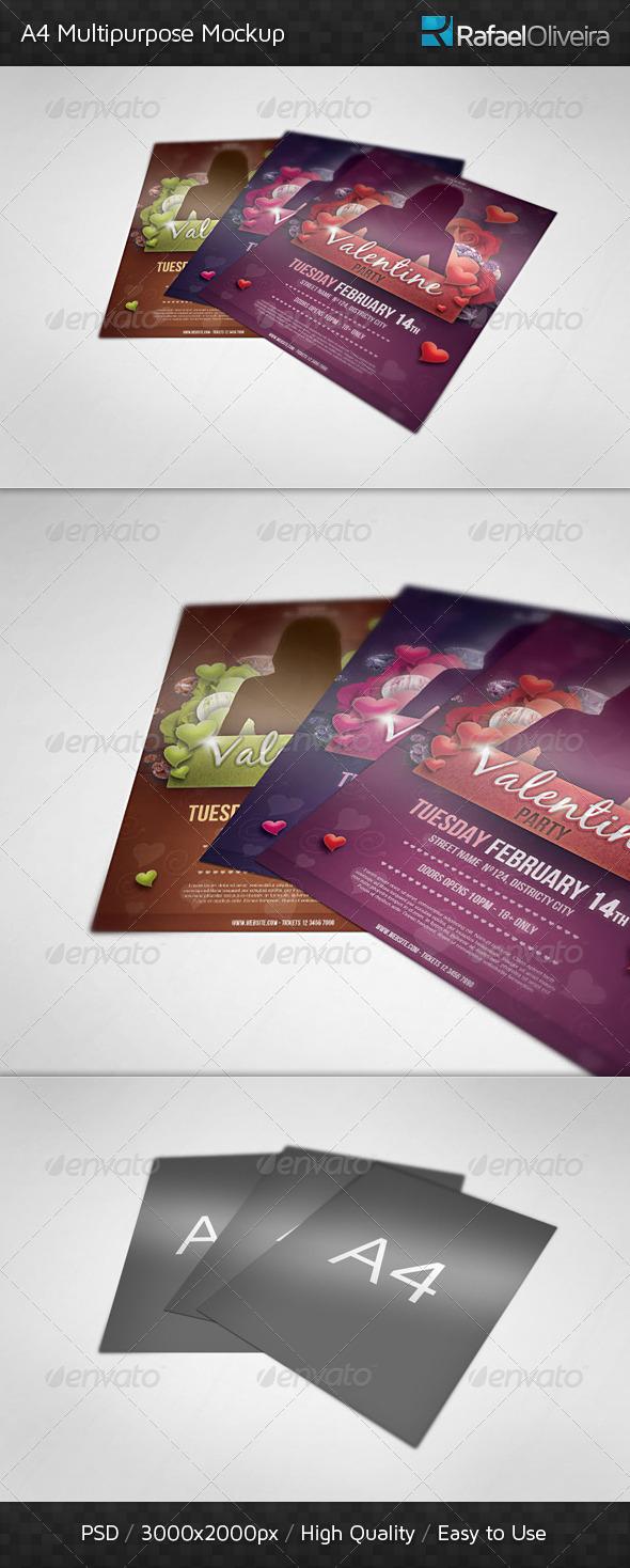 GraphicRiver A4 Multipurpose Mockup 3833224