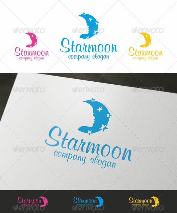 Night Spa Beauty Logo - Humans Logo Templates