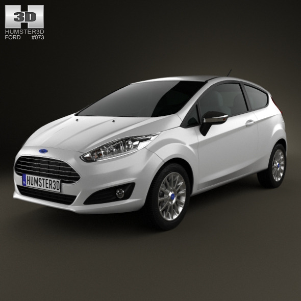 Ford Fiesta hatchback 3-door (EU) 2013 - 3DOcean Item for Sale