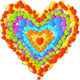 Vector Valentine's Day Card with Rainbow Heart - GraphicRiver Item for Sale