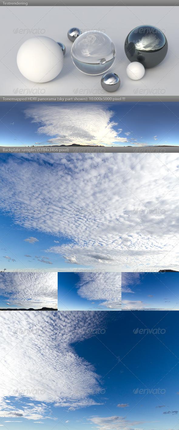 3DOcean HDRI spherical sky panorama 1548- blue sky clouds 3834519