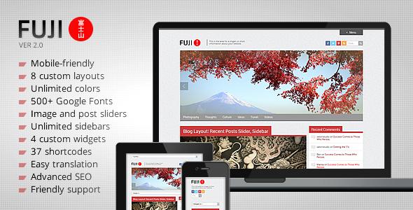5 Themes para WordPress Estilo Japonés: Fuji