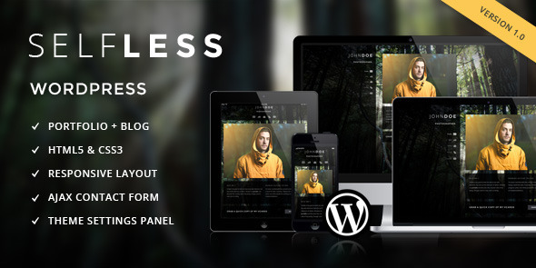 ThemeForest Selfless A One Page WordPress VCard Theme 3835620