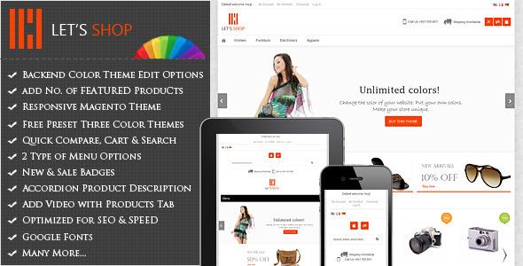 ThemeForest Let s Shop Responsive Magento Theme 3835905