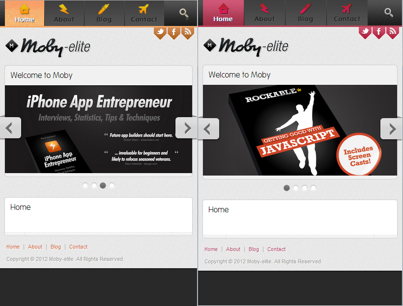 Moby Elite - Wordpress Mobile Theme