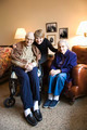 Daughter with elderly parents