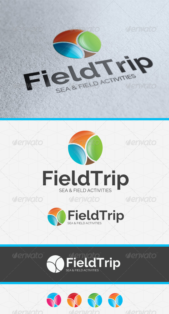 GraphicRiver Field Trip Logo Template 3836186