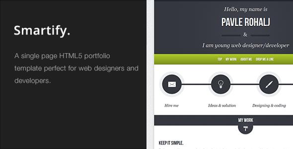 Smartify - Single Page HTML5 Portfolio Template - Portfolio Creative