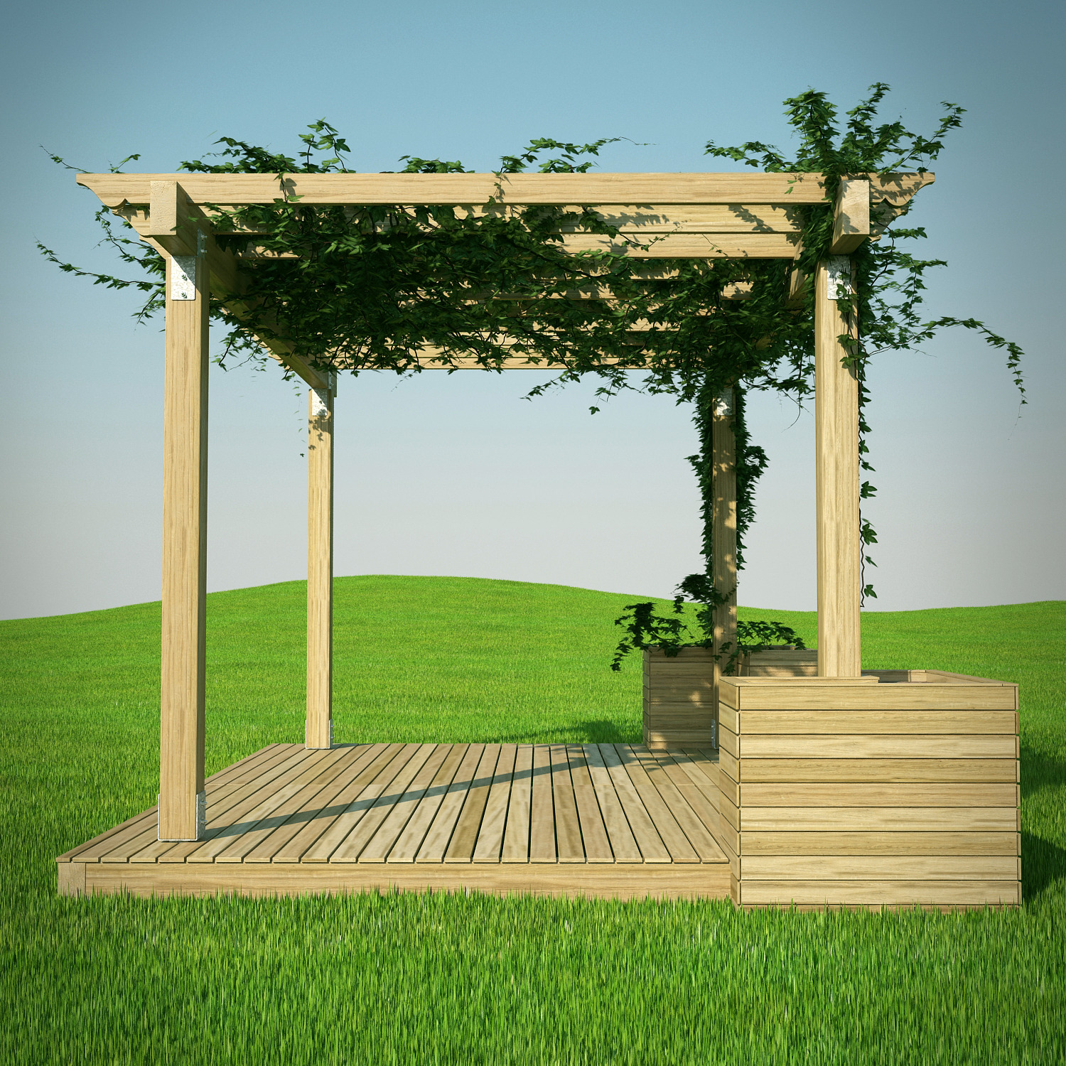 Pergola 3d Model By 3dlands 3docean