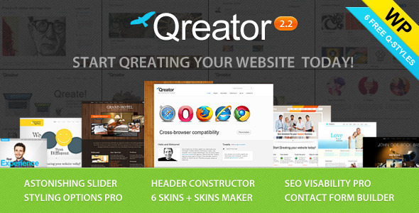 Qreator - Responsive Premium Wordpress Theme - Business Corporate