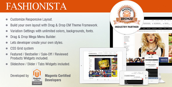 ThemeForest EM Fashionista Responsive Framework Theme 3837485