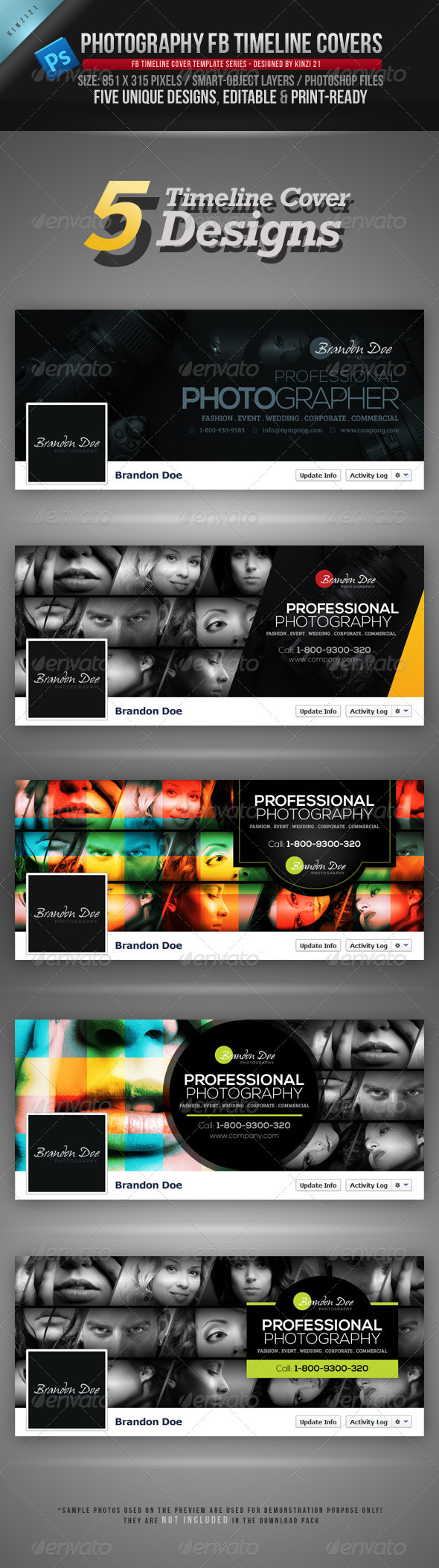 GraphicRiver Photography FB Timeline Covers 3837499