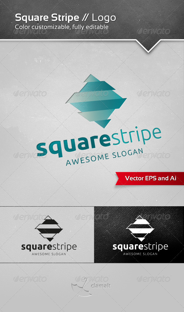 Square Stripe Logo - Vector Abstract