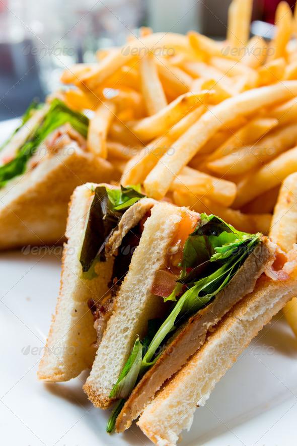 PhotoDune Sandwich with chicken 3853748