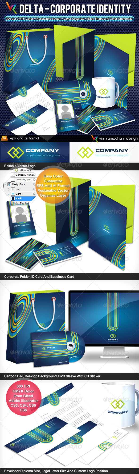 GraphicRiver Delta Corporate Identity 3763987