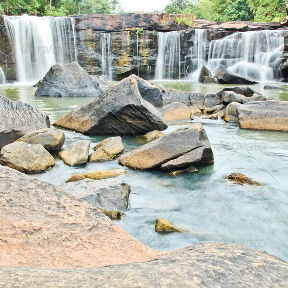 PhotoDune Waterfall in National park Chaiyaphum Province in Northeast of 3838464