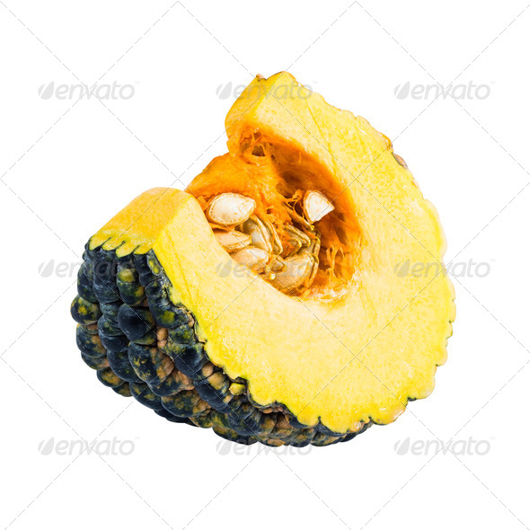 PhotoDune Piece of pumpkin isolated on white background with clipping path 3838472
