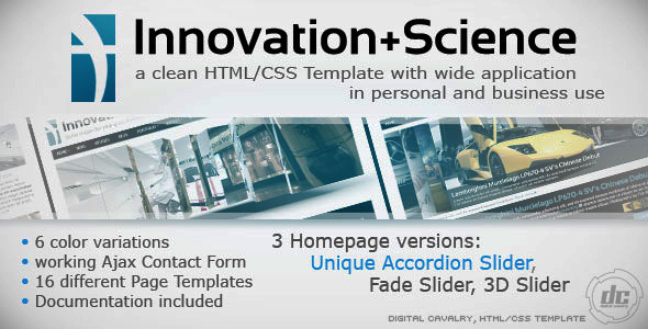 Innovation+Science Theme Portfolio & Business HTML - Business Corporate