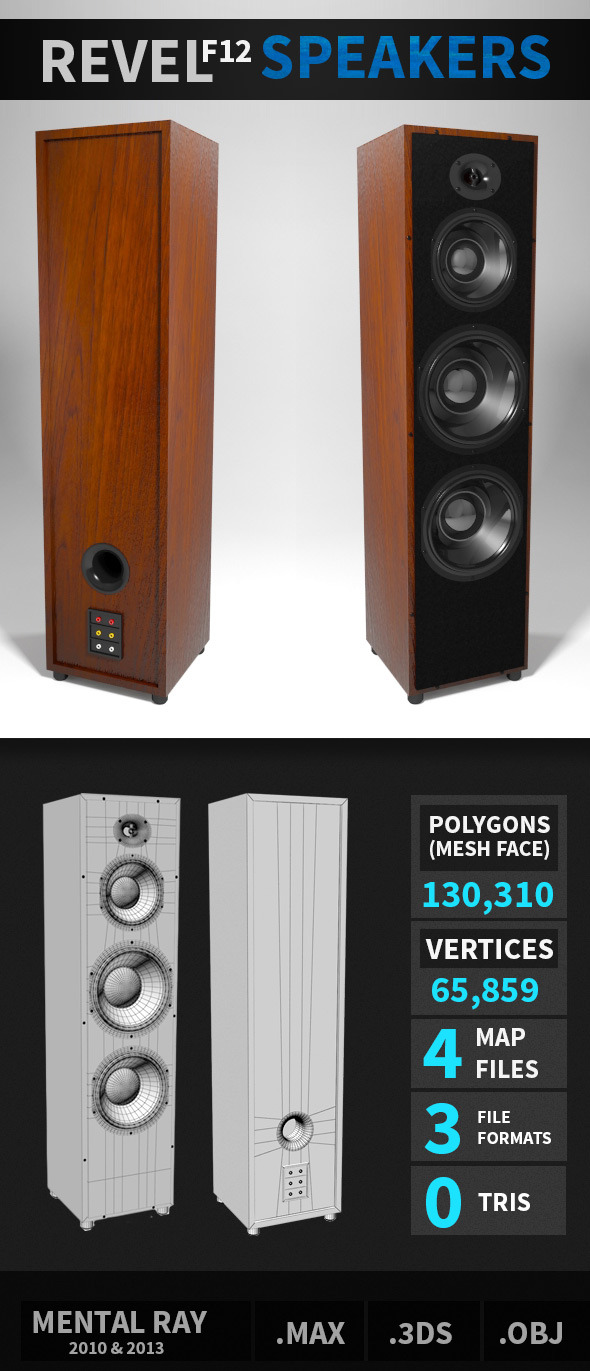 Revel F12 Speakers - 3DOcean Item for Sale