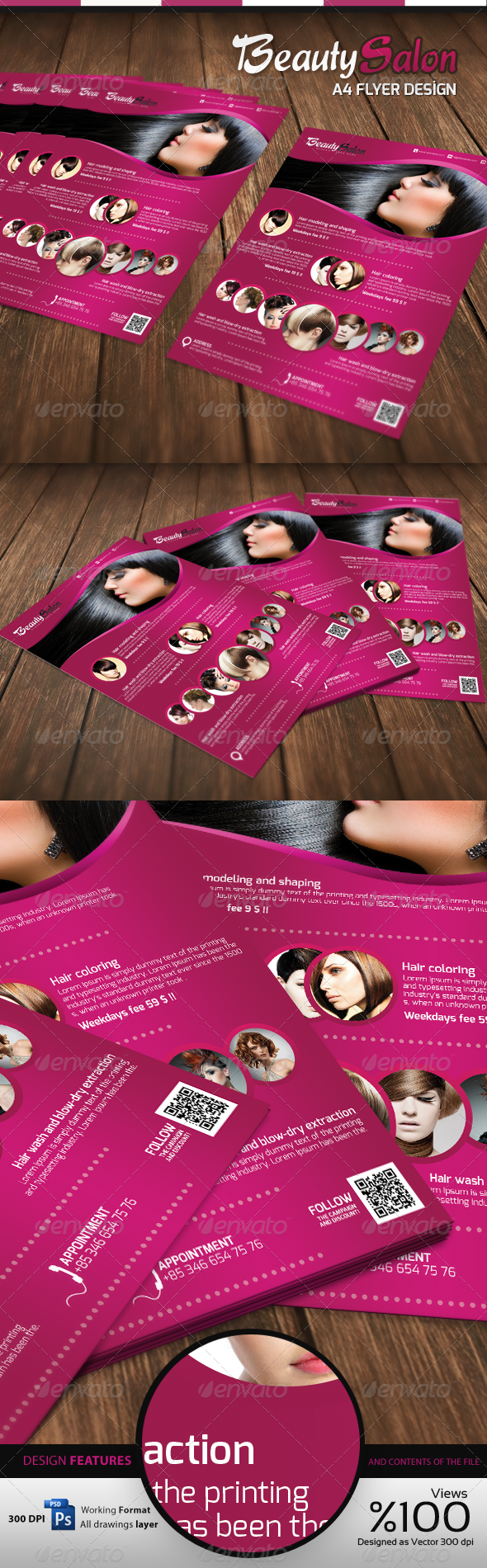 GraphicRiver Beauty Salon A4 Flyer 3839274