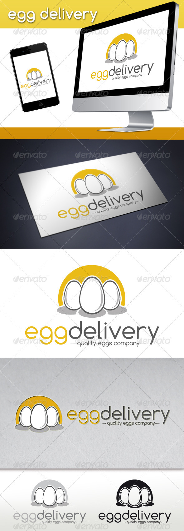 GraphicRiver Egg Delivery Logo Template 3839335