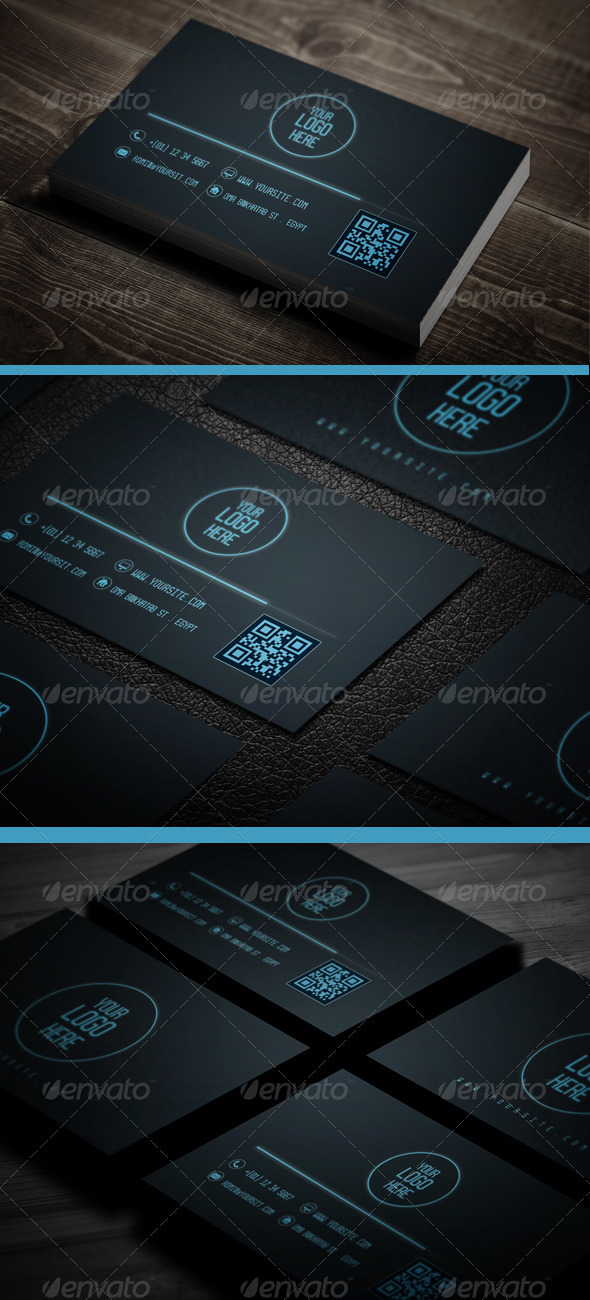 GraphicRiver Neon Business Cards 3839364