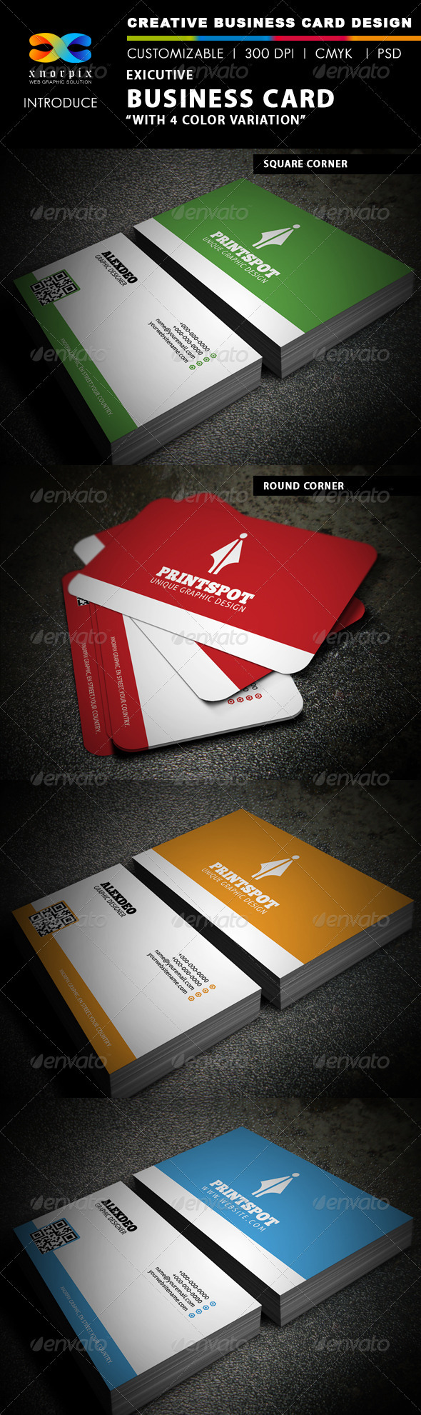 Executive Business Card - Creative Business Cards