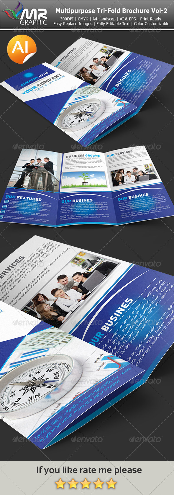 GraphicRiver Multipurpose Tri-Fold Brochure Vol-2 3839423