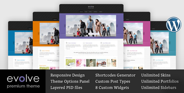 ThemeForest Evolve Responsive Multipurpose WordPress theme 3813176