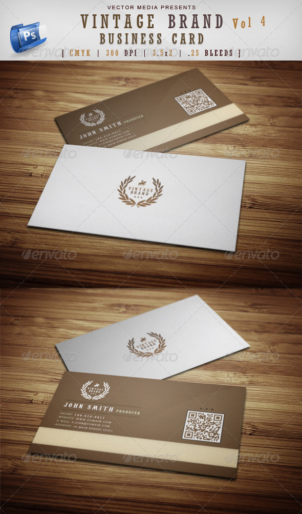 GraphicRiver Vintage Brand Business Card [Vol 4] 3839472