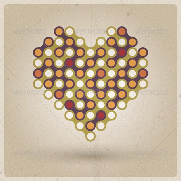 GraphicRiver Retro Heart 3839474