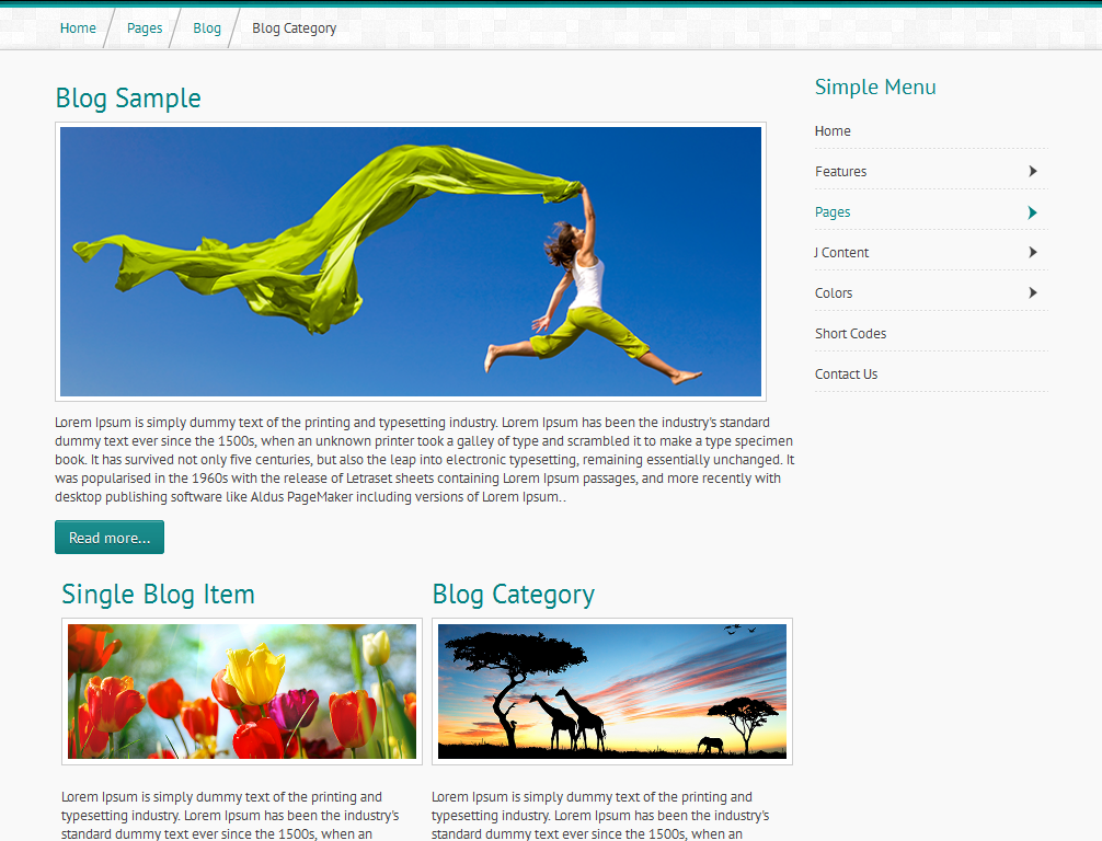 Mj Simple - Responsive Joomla Template