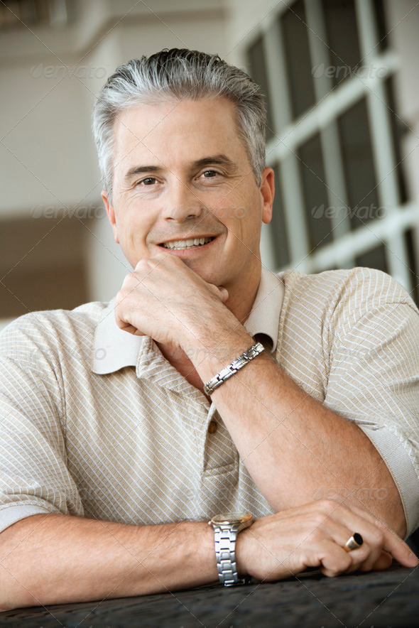 Man smiling - Stock Photo - Images