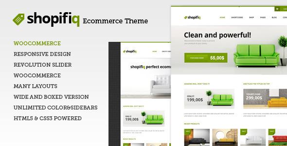 Shopifiq - Responsive WordPress WooCommerce Theme - ThemeForest Item for Sale