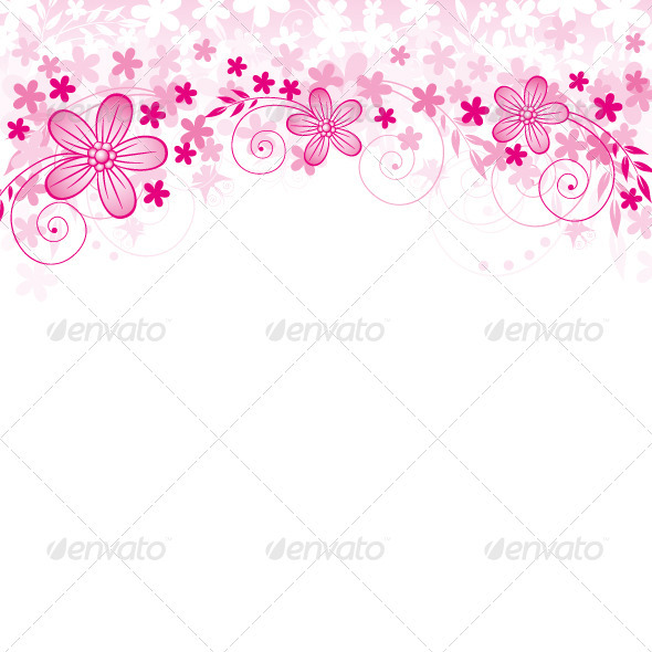 GraphicRiver Vector Flowers Background 3840041