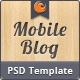 Mobile Blog PSD - ThemeForest Item for Sale