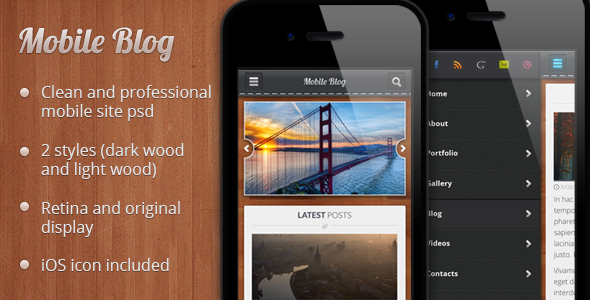 Mobile Blog PSD - Creative PSD Templates