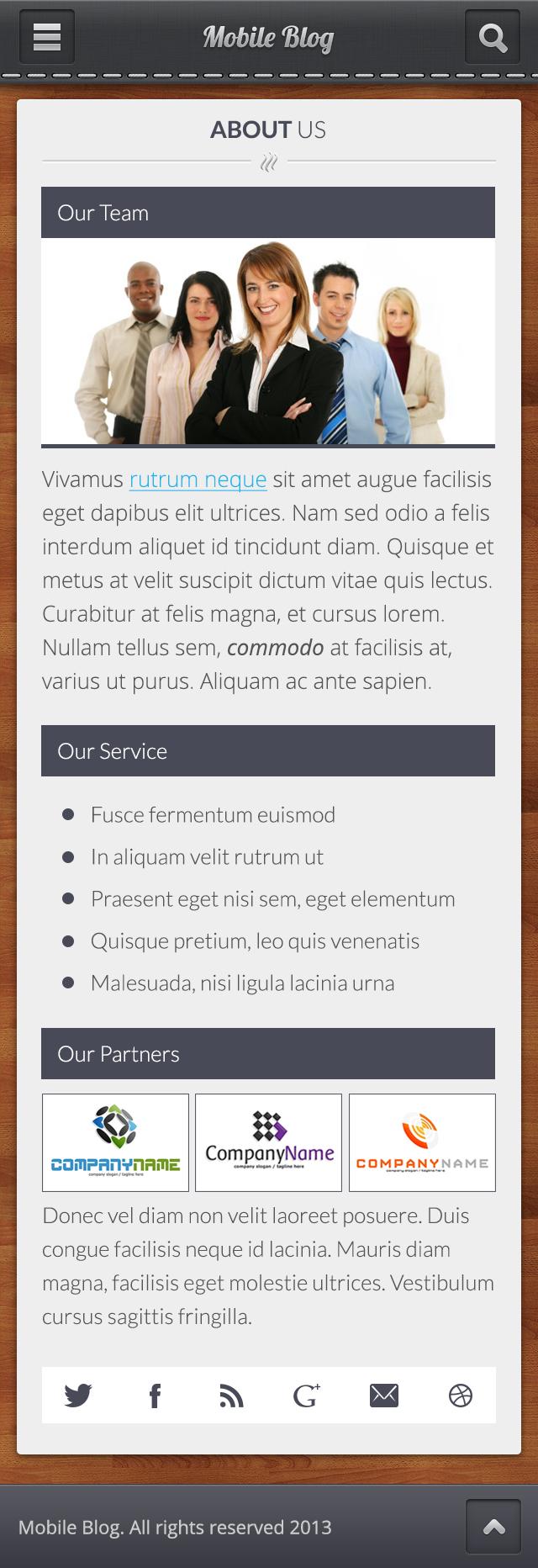 Mobile Blog PSD