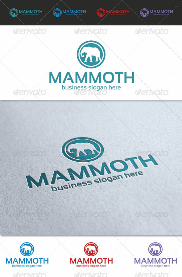 GraphicRiver Mammoth Logo Template 3775591