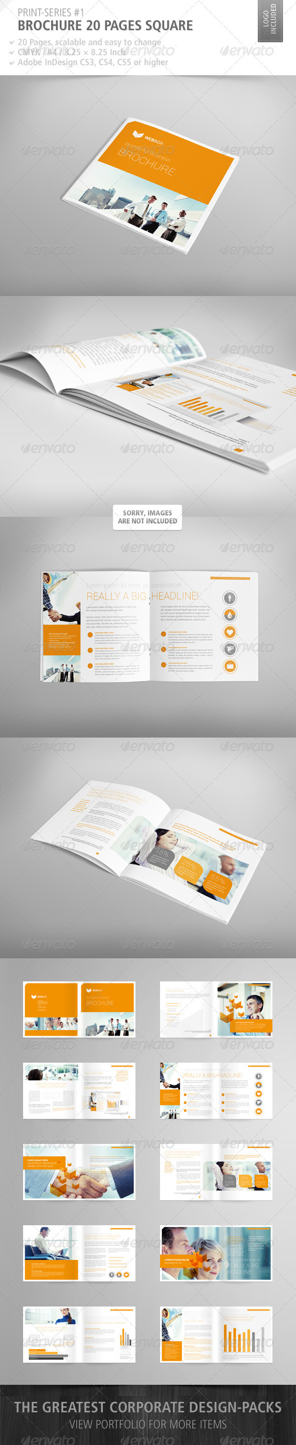 GraphicRiver Brochure Square 20 Pages Print-Series #1 3840118