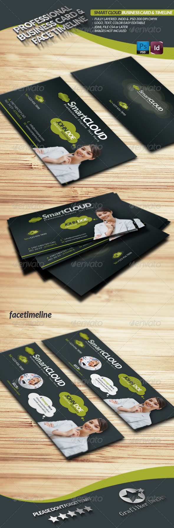 Smart Cloud Business Card Face Timeline