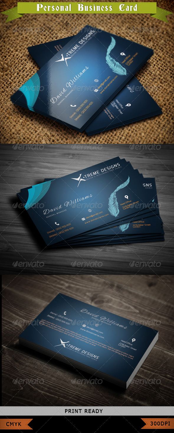 GraphicRiver Personal Business Card 3840242
