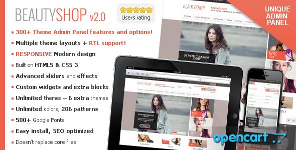 BeautyShop - Premium Responsive OpenCart theme - Fashion OpenCart