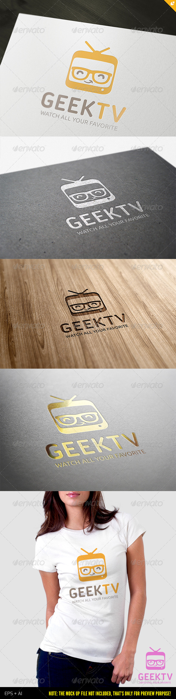 GraphicRiver Geek TV Logo 3840376
