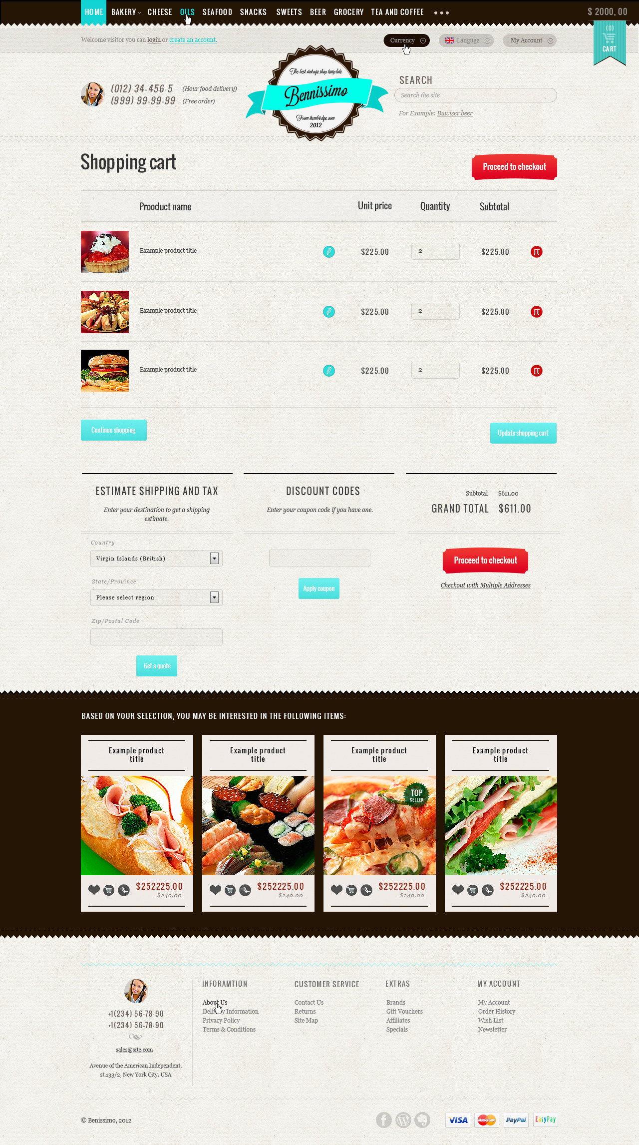 Benissimo — HTML5 & CSS3 store template